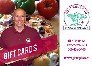 Gift Cards Available at New England Pizza